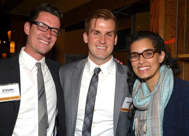 Steven Lewandowski, Andrew Minck and friend