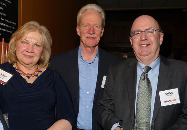 MinnPost managing editor Susan Albright, Richard Knuth and Steve Pincus