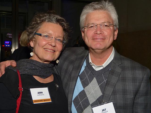 Ann Jürgens and former MinnPost reporter Jay Weiner