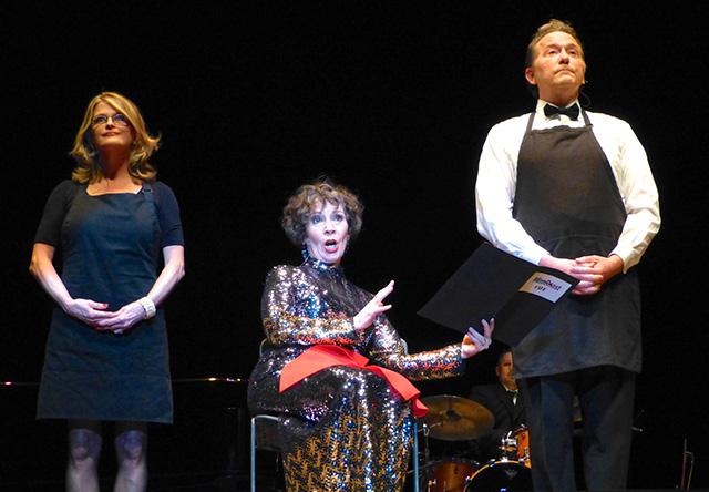 Soprano Maria Jette, center, serenading the audience