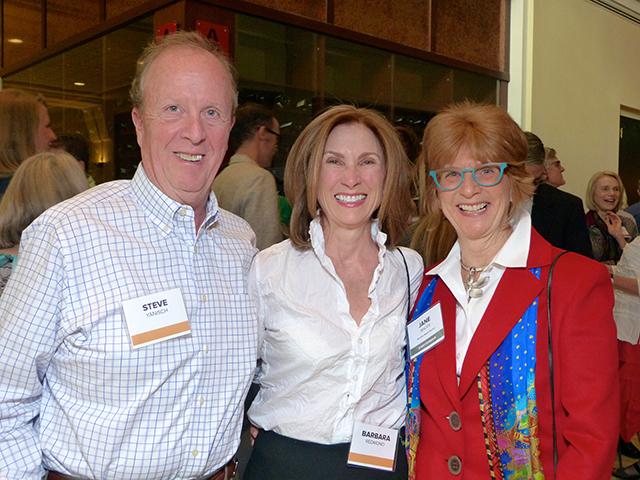 Steve Yanisch, Barbara Redmond and MinnPost board member Jane Mauer