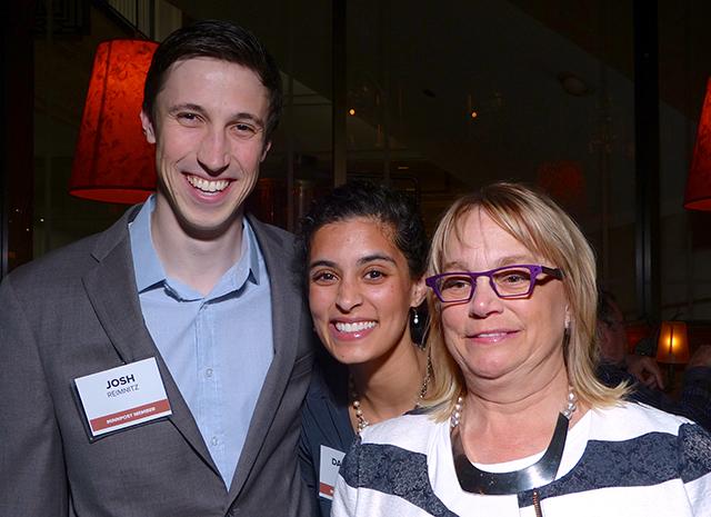 Josh Reimnitz, Daniela Vasan and Roann Cramer