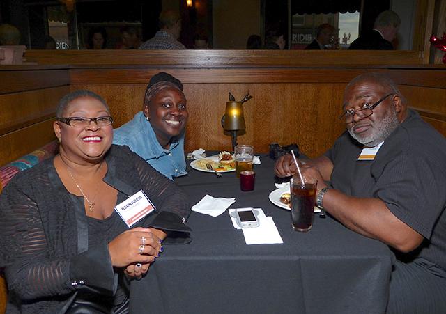 Former MPS Supt. Bernadeia Johnson, Briana Johnson and Reggie Johnson