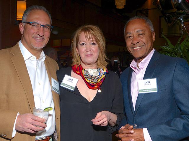 Keith Moheban, Nikki Carlson and MPS board member Don Samuels