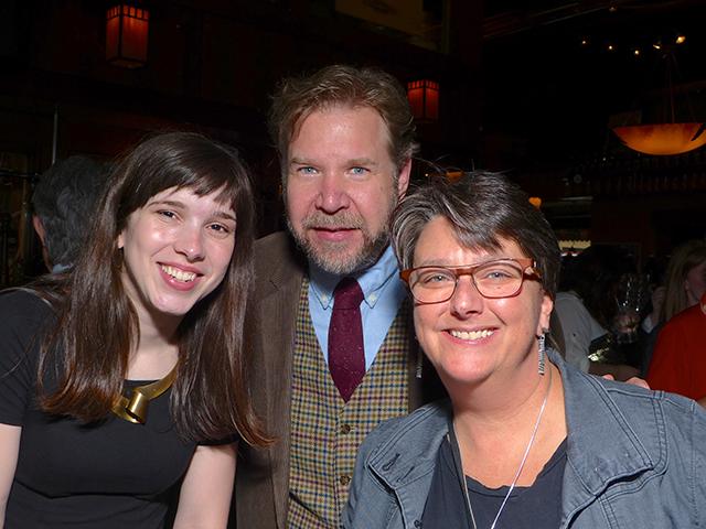 Martha Garces, MinnPost web editor Corey Anderson and Beth Hawkins