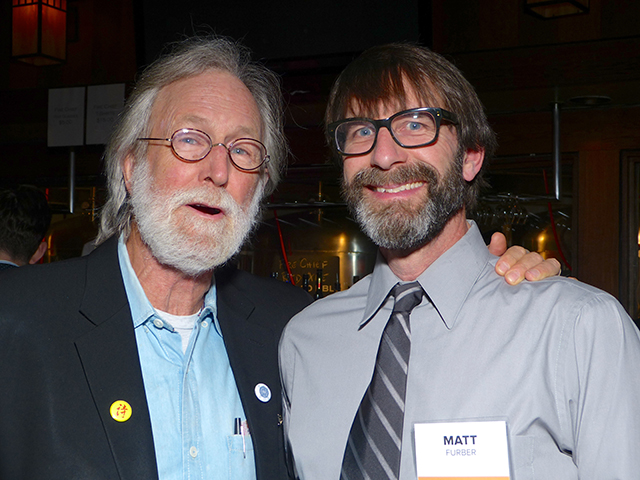 Earth Journal supporter Jim Lenfestey and Matt Furber