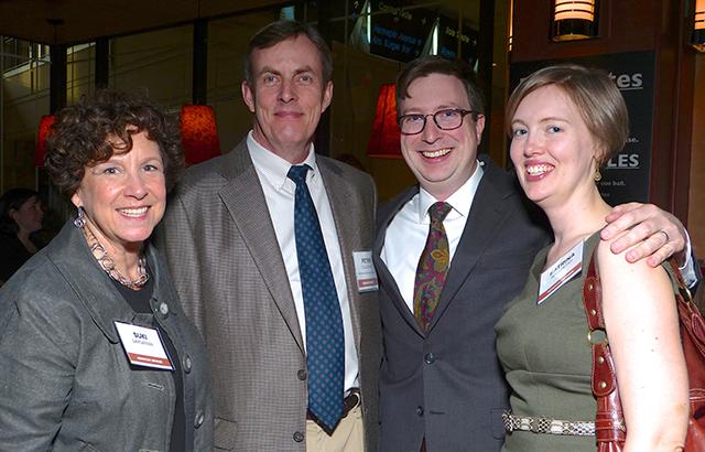 Suki Dardarian, MinnPost reporter Peter Callaghan, MinnPost publisher Andrew Wal
