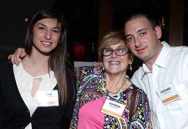 Paige Morganstein, Doreen Cordova and Stefano Cordova