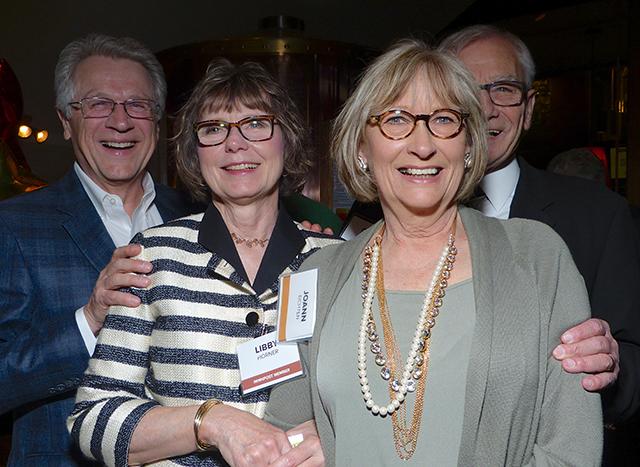 Tom and Libby Horner, Joann and MinnRoast video narrator Gary Eichten