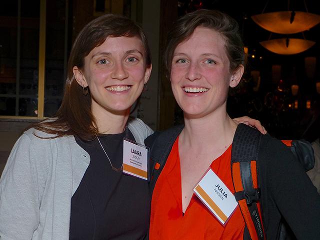 MinnPost Advertising and Membership Assistant Laura Lindsay and Julia Nissen