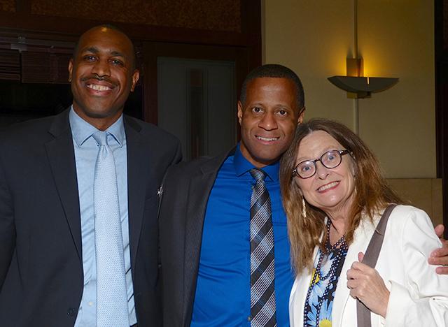 Eric Moore, Stan Alleyne and Susan Eilertsen