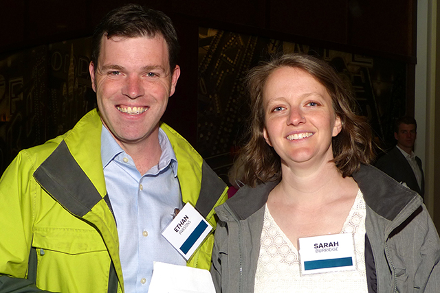 Ethan Parsons and Sarah Burridge