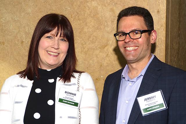 Event sponsors Bonnie Westlin and MinnPost Board member Jeremy Pierotti