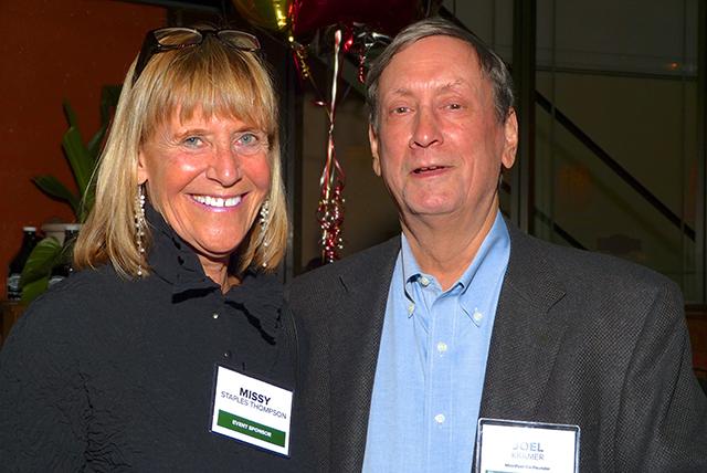 Event sponsor Missy Staples Thompson and MinnPost co-founder Joel Kramer