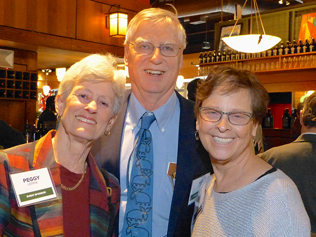 Peggy and Ilo Leppik and MinnPost co-founder Laurie Kramer