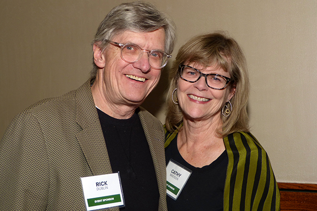 Event sponsors Rick Dublin and Cathy Madison