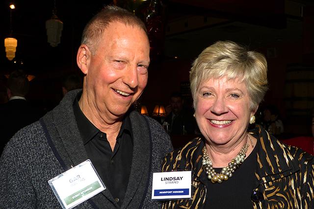 Event sponsor Gar Hargens and Lindsay Strand