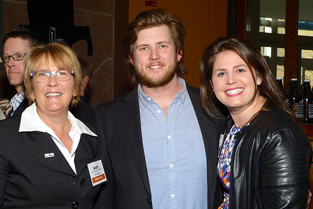 Mayor Mary Giuliani Stephens, Jake Albrecht, and Aubrey Austin