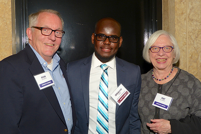 Ron Eldred, MinnPost reporter Ibrahim Hirsi and Pat Eldred