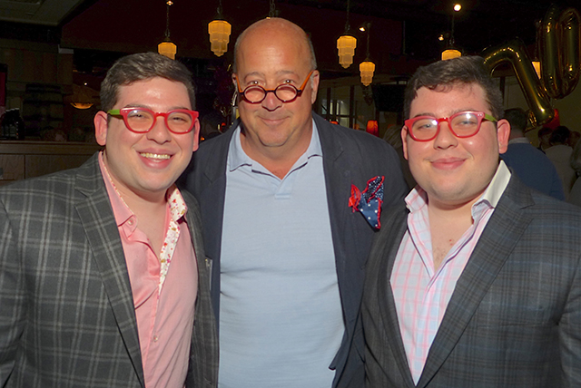 Celebrity chef and MinnRoast cast member Andrew Zimmern, the Potash Twins