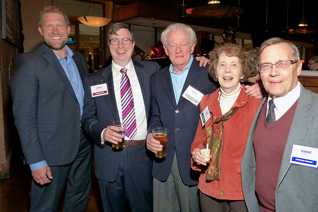 Matt Schmit, Andrew Wallmeyer, Mike and Kay O'Keefe, and Dane Smith
