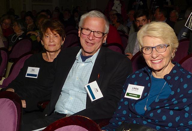Dee Gaeddert, Jim Dorsey and Linda Satorius