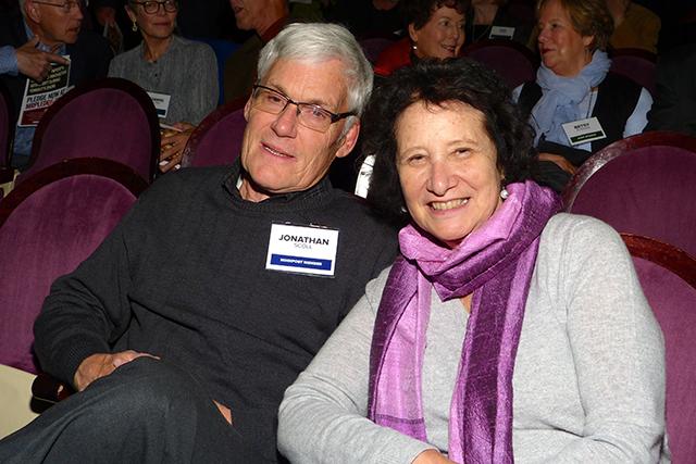 Jonathan Scoll and MinnRoast committee member Barbara Scoll