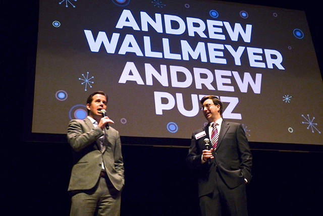 MinnPost editor Andrew Putz and CEO Andrew Wallmeyer