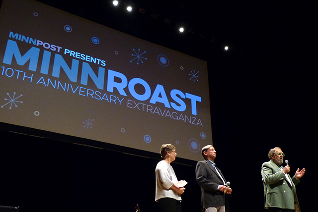 MinnPost co-founders Laurie and Joel Kramer and Lee Lynch