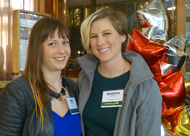 Erin Sunseri and MinnRoast sponsor Marissa Schon