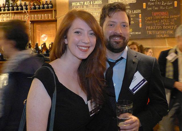 MinnPost reporter Briana Bierschbach and Andy Mannix