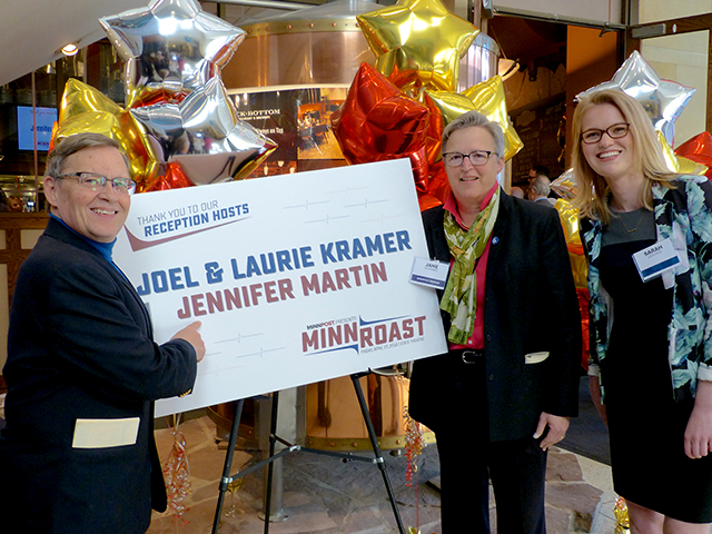 Dane Smith, Jane Leonard and Sarah Leistico