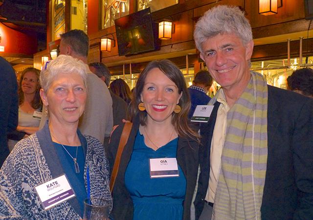 Kate Wolford, Gia Vitali and MinnRoast sponsor Lee Sheehy