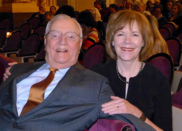 Former Vice President Walter Mondale and Sen. Tina Smith
