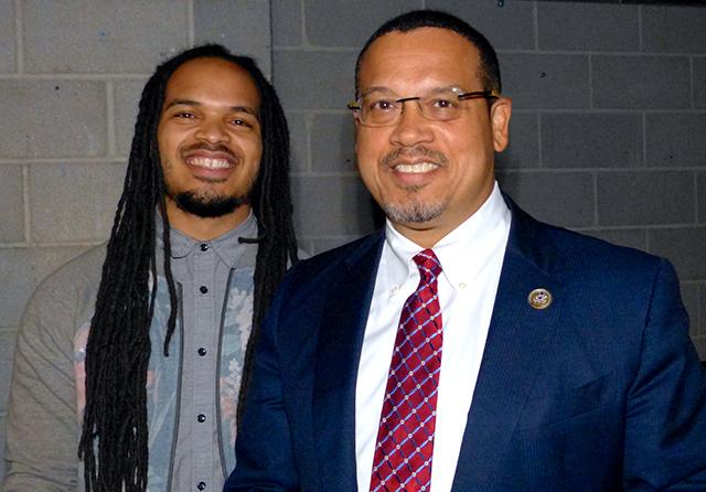 Minneapolis Council Member Jeremiah Ellison and Rep. Keith Ellison