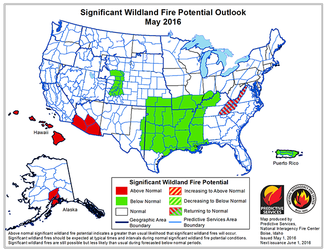 Us Wildfire Map 2015.U S Wildfire Outlook Improves A Bit But The Trend Lines Are